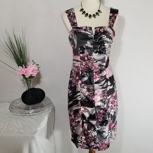 BCX  Mauve and Grays Cocktail Dress